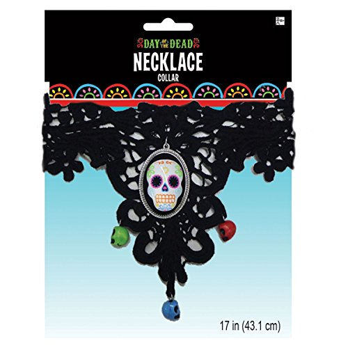 Day of the Dead, Dia de los Muertos Necklace and Bracelet Set (2 Pieces)