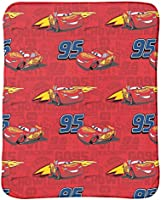 Disney Cars Lightning McQueen 3-Piece Travel Gift Set with 40 x 50 Throw Neck Pillow /& Eye Mask