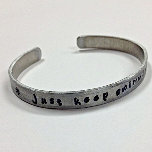 just-keep-swimming-inspiration-quote-bracelet-non-tarnish-aluminum-cuff-bracelet