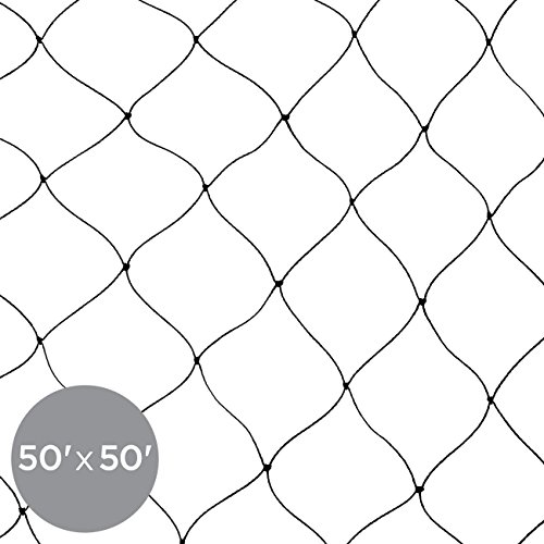 - Best Choice Products 50x50ft Multi-Filament Protective Mesh Bird Netting for Birds, Poultry, Games, and Pens - Black