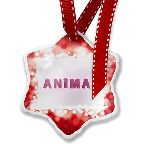 Christmas Ornament Animal Pink Fuzz Fur Letters, red - Neonblond by NEONBLOND