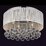 ZQ@QX Fashion modern design kitchen bedroom dining living room chandelier Luxury crystal fabric art chandelier