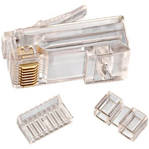 (IDEAL Electrical 85-366 CAT 6/RJ-45 Modular Plugs (Clear, 25))