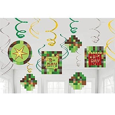 Minecraft 'TNT Party' Hanging Swirl Decorations (12ct)