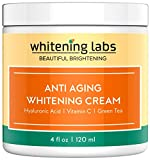 Whitening Labs Whitening Cream. Anti Aging Skin Lightening Cream. Hyaluronic Acid, Vitamin C, Kojic Acid, Green Tea. Best Day Night Brightening Cream.
