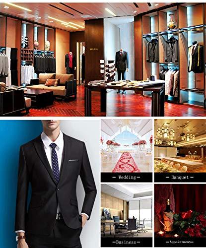 60de5b45a0cc WULFUL Men's Suit Slim Fit One Button 3-Piece Suit Blazer Dress Business Wedding  Party