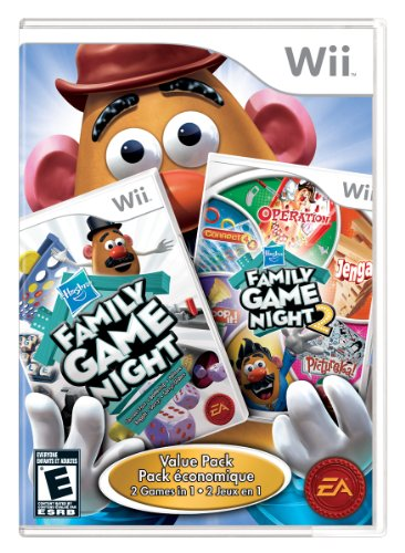 1 Wii - Hasbro Family Game Night 1 and 2 Bundle - Nintendo Wii