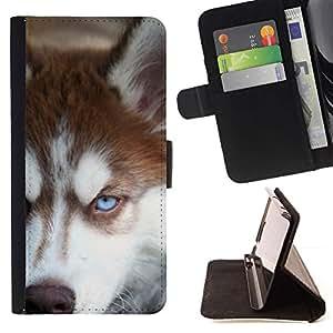 Momo Phone Case / Flip Funda de Cuero Case Cover - Siberian Husky de Alaska Malamute Perro; - Sony Xperia Z3 Compact