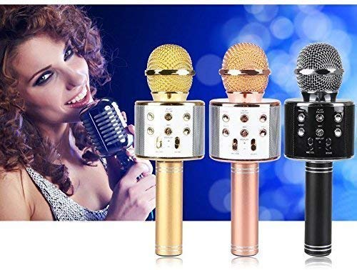 RYLAN Wireless Bluetooth Microphone Recording Condenser Handheld Microphone with Bluetooth Speaker Audio Recording for All Android and iOS Devices and Smartphone,Laptops & Computers (Multicolor) product image