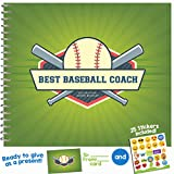 Baseball Gifts - Recognition Award Booklet for Being the Best Base Ball Coach - Say thank you with humor - Includes Stickers and Card - Perfect Gift Idea for Players, Sport Fans and Team Coaches