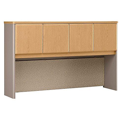 Bush Business Furniture Series A Collection 60W Hutch in Light Oak/Sage