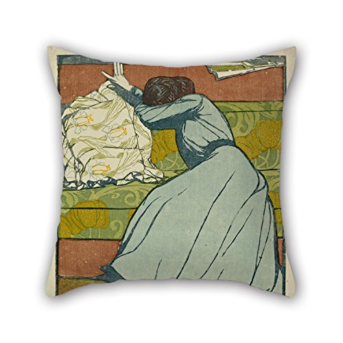 Pillow Cases 16 X 16 Inches / 40 by 40 cm(Double Sides) Nice Choice for Bench Study Room Floor Son Dinning Room Floor Oil Painting Max Kurzweil - The Cushion (Der Polster)