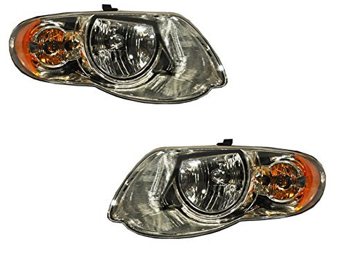 Chrysler Voyager Headights Town & Country Only W/119 Wheel Base Driver/Pass... by Headlights Depot