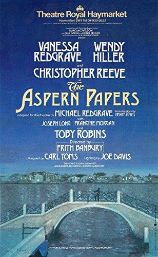 "Vanessa Redgrave ""ASPERN PAPERS"" Christopher Reeve 1984 London Flyer"