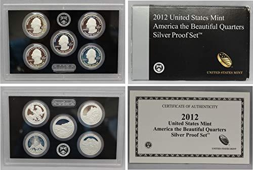2012 Mint - 2012 S US Mint Quarters Silver Proof Set
