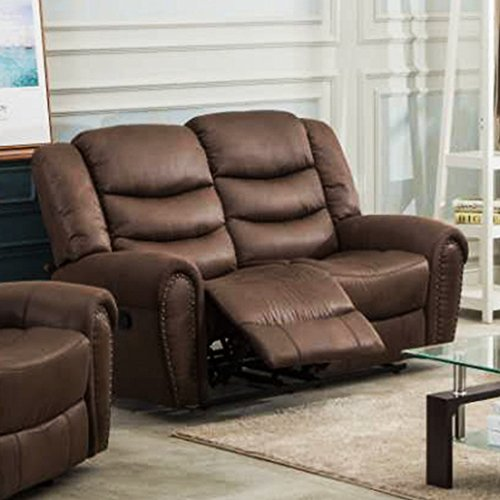 Coja by Sofa4life Brookhaven Faux Leather Loveseat Brown (Leather Brookhaven)