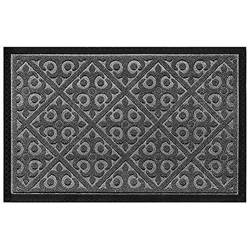 Door Mat Indoor Outdoor Doormats Outside Effective Scraping Of Dirt Patio  Grass Moisture Snow Dust Grit Removal Ideal Low Profile Doormat Front Door  ...