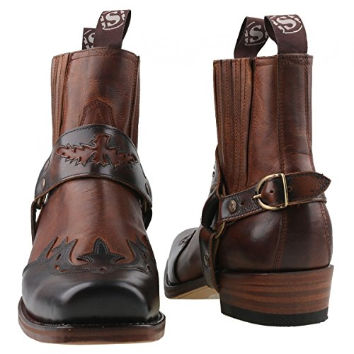 Sendra Cowboy Stiefelette 7811 Braun