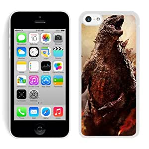 iPhone 5C Case,Godzilla For iPhone 5C White Case Cover