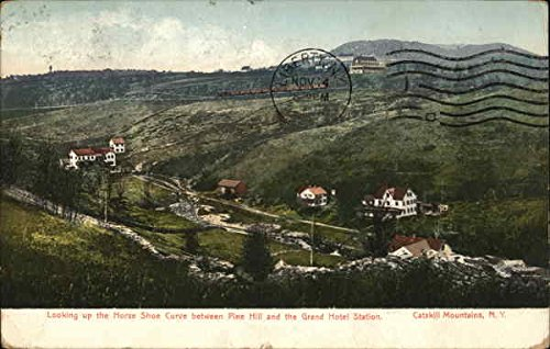 Looking Up the Horse Shoe Curve Between Pine Hill and the Grand Hotel Station Original Vintage -