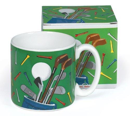 Golf Club 13 Oz Ceramic Coffee Mug for Golfers with Gift Box