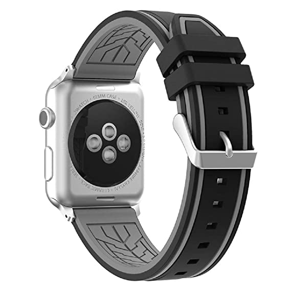 Fmway Repuesto de Correa Reloj de Silicona para Apple Watch Series 4 44mm, Apple Watch Series 3/2/1 42mm, Hombre y Mujer
