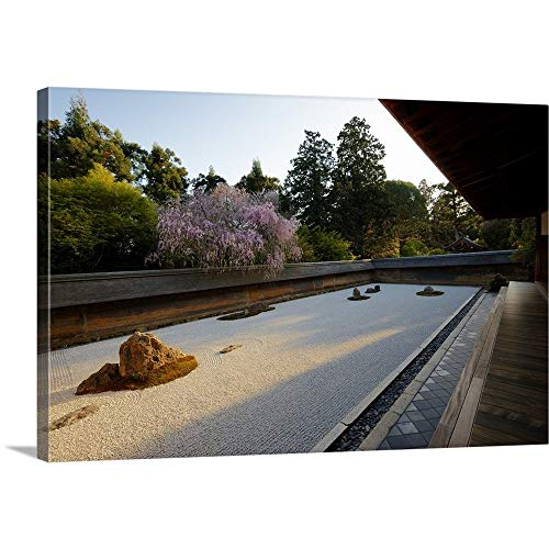 - GREATBIGCANVAS Gallery-Wrapped Canvas Entitled Evening Light on Rock Garden, Ryoanji by 60