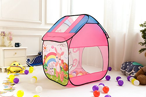 Ball Pit Play Tent Tunnel for Toddlers Kids Baby Boys Indoor Children Playhouse Pop Up Toys with Mini Basketball Hoop Fun Games 5 In 1 Set (Bunny Play Tent) ... & Ball Pit Play Tent Tunnel for Toddlers Kids Baby Boys Indoor ...