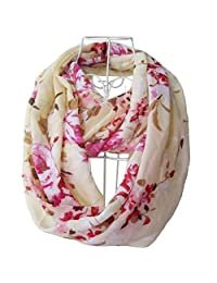 Tapp C. Multicolor Floral Print Infinity Scarf - Cream