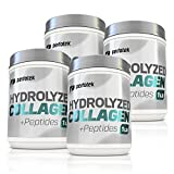 4 Pack Hydrolyzed Collagen Powder 1Pound Pasture Raised Cattle Non-GMO Grass-Fed Gluten-Free Certified Kosher Unflavored and Easy To Mix - Premium Beef Collagen Powder 16 onces