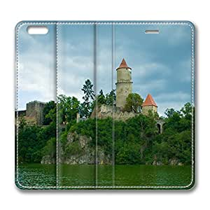 iPhone 6 Plus Case, Fashion Customized Protective PU Leather Flip Case Cover Zvikov Castle for New Apple iPhone 6(5.5 inch) Plus