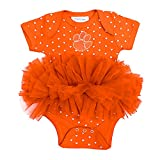 Two Feet Ahead NCAA Clemson Tigers Infant Girls Heart Tutu Creeper, Orange
