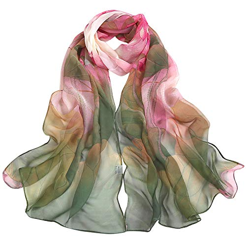 Women Scraf,Soild Dot Printing Wrap Long Lightweight Neckerchief Ladies Shawl Scarves (Green) by InMarry (Image #4)