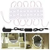 ZGX Vanity Mirror Lights,5FT 30Leds DIY Light Kit for Cosmetic Makeup Dressing Vanity with Power Supply Plug ON/OFF Switch,Natural White (5FT 30 leds)