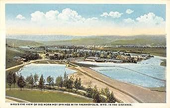 Thermopolis Wyoming Birdseye View Big Hot Springs Antique Postcard K14352
