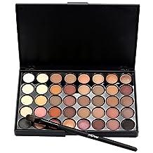 Susenstone Cosmetic Matte Eyeshadow Cream Makeup Palette Shimmer Set 40 Color+ Brush Set (A)