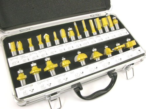 ROUTER BITS SET - 24 pieces 1/2 shank CARBIDE Aluminum Case NEW by EDMBG by EDMBG (Image #3)