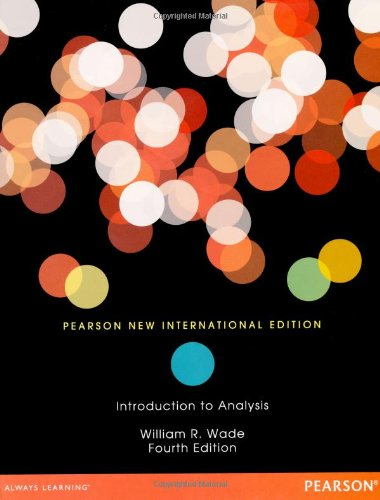 Introduction to Analysis, 4th Edition Front Cover
