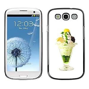 FECELL CITY // Duro Decorativo Carcasa de Teléfono PC Caso Funda / Hard Case Cover forSamsung Galaxy S3 // Funny Tasty Ice Cream