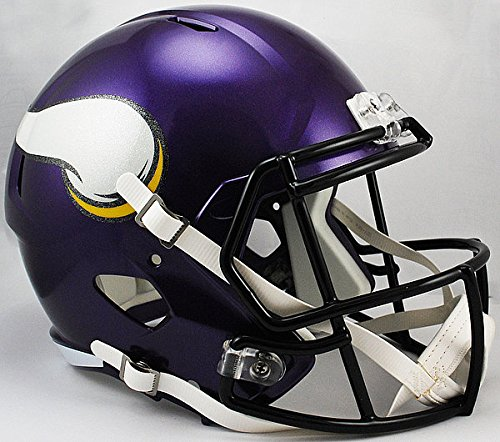 Riddell NFL Minnesota Vikings Satin Purple Replica Speed Full Size Football Helmet