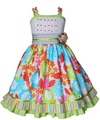 Carouselwear Little Baby Girls Whimsy Summer Dress with Twirly Floral -