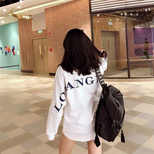 Largo L Loose WEDOJO Mujer XL Medium Sleeve Blanco Otoño Lovers Sweater Long Abrigo M S qn8xX8SwPr