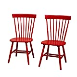 Target Marketing Systems 64918RED PR Venice Set of 2 Dining Chairs, Red Review