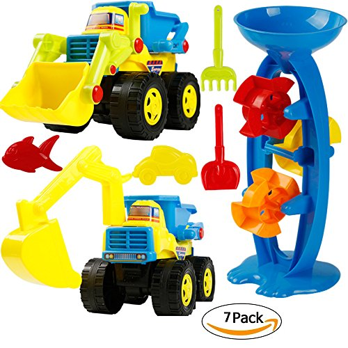 VGHJK Children's Beach Toy Car Set Baby Play Sand Playing Water Digging Sandglass Shovel Cassia Baby Shower Tool (Color Random),F by VGHJK