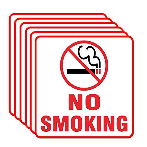 Set Decal Warning - Set of 8 No Smoking Warning Sign Sticker Label 6