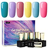 Best Gel Polishes - Gel Nail Polish Set Rainbow Colors Azure Beauty Review