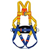 Climbing Harness, Protect Waist Leg Safe Seat Belts Band for Mountaineering Fire Rescue Aerial Work Climbing Rappelling