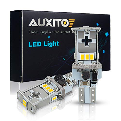AUXITO 921 912 LED Bulb Canbus Error Free 2200 Lumens Extremely Bright Replacement Bulbs for Backup Reverse Lights 6500K Xenon White, 2 Pack