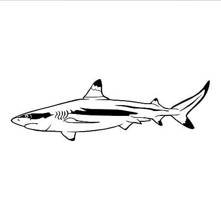 Waofe Mar Océano Gran Tiburón Blanco Pegatinas De Pared Baño ...