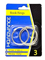 HQ Advance Products Book Rings, 1 1/2-Inch (02004)
